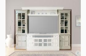 Charlotte Antique Vintage White Pier Cabinets Set of 2