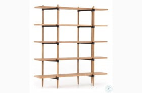 Irondale Waxed Black Holmes Bookshelf