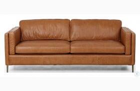 "Kensington Sonoma Butterscotch Emery Leather 84"" Sofa"