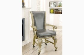 Melina Gray Arm Chair Set Of 2