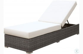 Somani Gray and Ivory Outdoor Adjustable Chaise