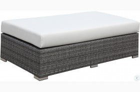 Somani Gray and Ivory Outdoor Bench