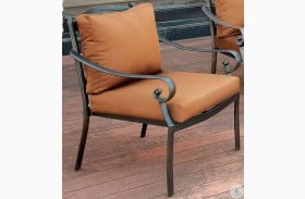 Bonquesha I Distressed Black Outdoor Arm Chair