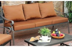 Bonquesha I Distressed Black Outdoor Patio Sofa