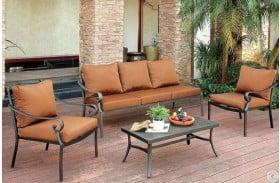 Bonquesha I 4 Piece Outdoor Patio Seating Set