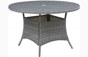 "Canistota 47"" Gray Round Outdoor Patio Table"
