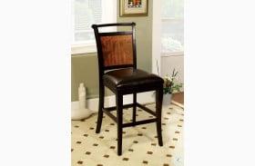 Salida II Acacia Leatherette Counter Height Chair Set of 2