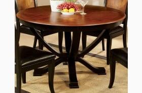 Salida I Acacia Round Pedestal Dining Table