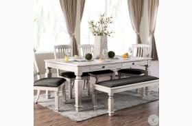Georgia Antique White Dining Table