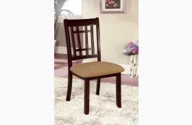 Central Park I Dark Cherry Side Chair Set of 2