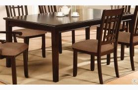 Central Park I Dark Cherry Rectangular Extendable Leg Dining Table