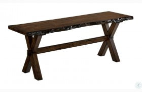Woodworth Distressed Wood Bench
