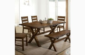 Woodworth Distressed Wood Dining Table