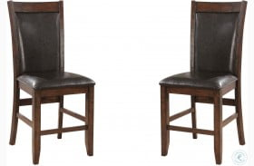Meagan II Brown Cherry and Espresso Counter Height Chair Set Of 2