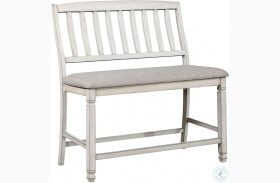Kaliyah Antique White Counter Height Bench