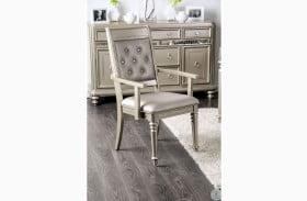 Xandra Champagne Arm Chair Set Of 2
