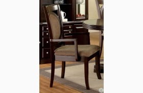 Evelyn Walnut Arm Chair Set of 2
