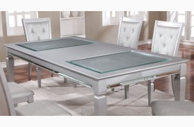 Alena Silver Extendable Dining Table