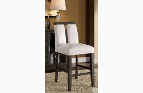 Luminar II Gray and White Counter Height Chair Set of 2