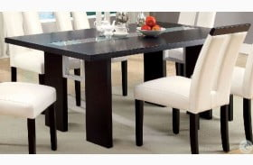 Luminar Glass Insert Rectangular Dining Table