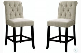 Izzy Ivory Counter Height Chair Set of 2