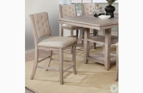 Ledyard Rustic Natural Counter Height Side Chair Set Of 2