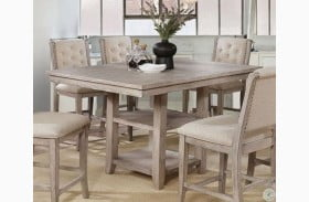 Ledyard Rustic Natural Counter Height Dining Table