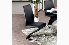 Midvale Black and Chrome Side Chair Set Of 2