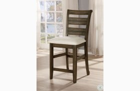 Rigby II Light Walnut And Beige Counter Height Side Chair Set Of 2