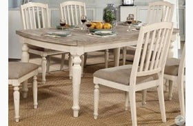 Summer Antique White and Gray Dining Table