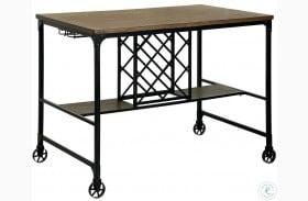 Silvia I Medium Oak Counter Height Dining Table