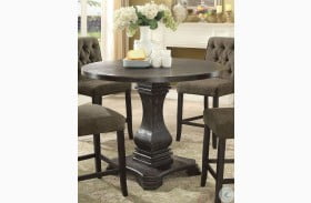 Nerissa Antique Black Counter Height Dining Table