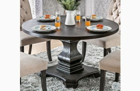 Nerissa Antique Black Round Table