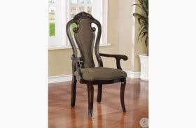 Rosalina Walnut Arm Chair Set Of 2