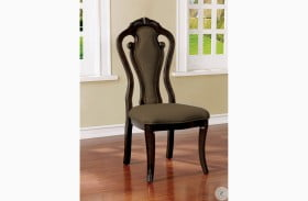 Rosalina Walnut Side Chair Set Of 2