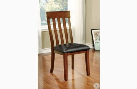 Foxville Cherry Leatherette Side Chair Set of 2