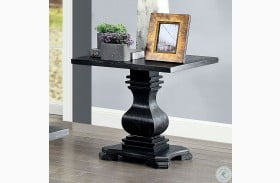 Mirabel Antique Black End Table