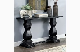 Mirabel Antique Black Sofa Table