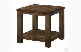 Spring Antique Oak End Table