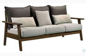 Louis Light Walnut And Charcoal Sofa
