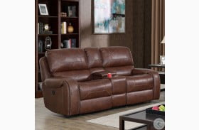 Walter Brown Power Reclining Loveseat With Storage