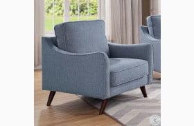 Maxime Blue Oak Chair