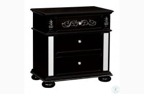 Azha Black Nightstand