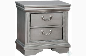 Claudia Silver Gray Nightstand