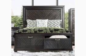 Argyros Espresso Storage Panel Bed