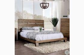 Tolna Deep Wood Grain Panel Bed