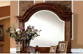 Bellagrand Antique Tobacco Oak Mirror