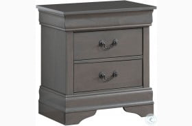 Louis Philippe III Gray Nightstand