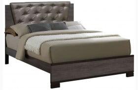 Manvel Dark Gray Full Upholstered Panel Bed