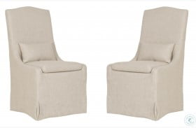Colette Bisque Dining Chair Set of 2